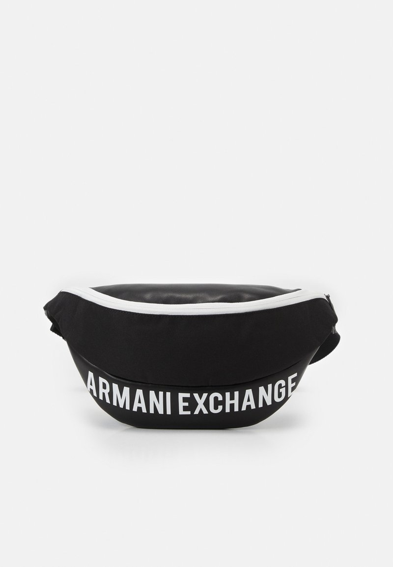 Armani Exchange - MIX CONTRAST WAISTBAG UNISEX - Ledvinka - black/white