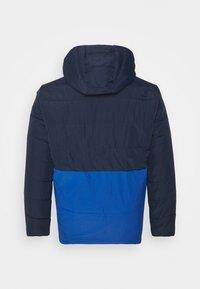 Jack & Jones - JCOMAGIC TWIST QUILTED JACKET HOOD - Summer jacket - navy blazer - 1