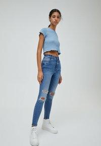 PULL&BEAR - Jeans Skinny Fit - mottled blue - 1