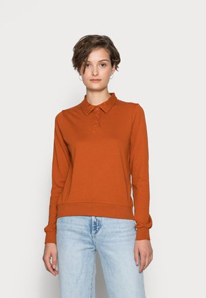 ONLINCBEATE STRIPE TEE - Polo shirt - bombay brown