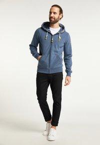 Schmuddelwedda - Zip-up sweatshirt - marine melange - 1