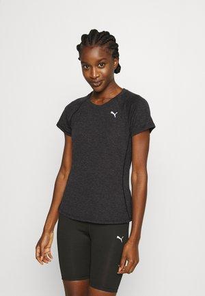 RUN TEE - Basic T-shirt - black heather