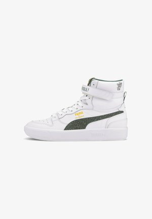 Baskets montantes - puma white-posy green-black