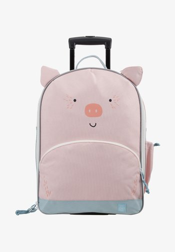ABOUT FRIENDS BO PIG - Wheeled suitcase - pink