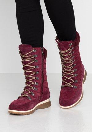 Lace-up boots - bordeaux