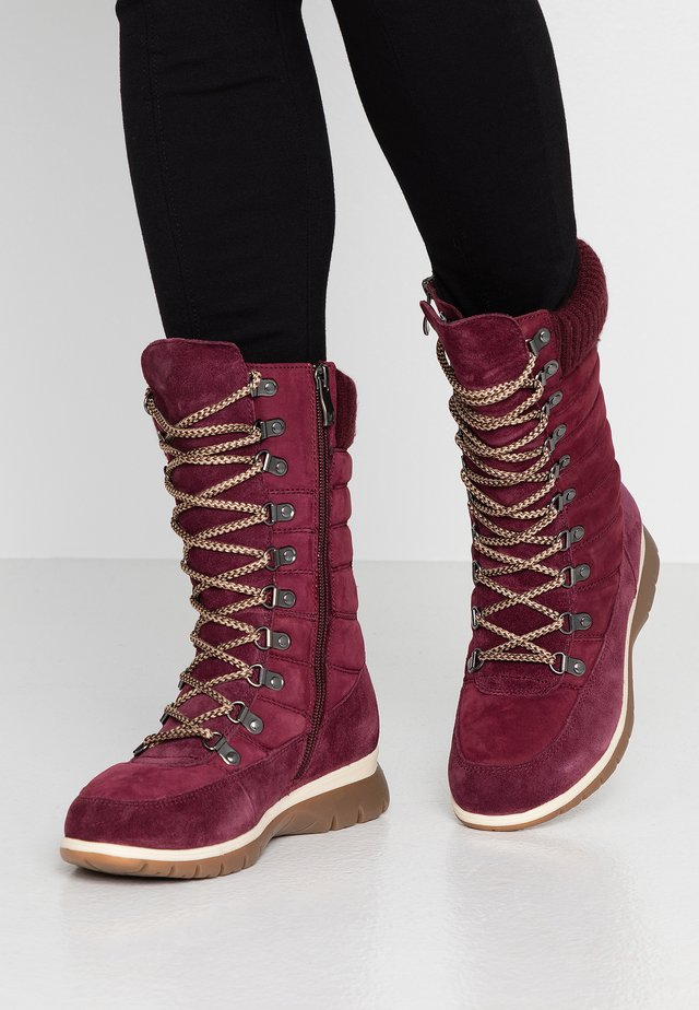 Lace-up boots - bordeaux