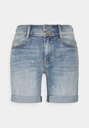ALEXA BERMUDA - Denim shorts - random bleached blue denim