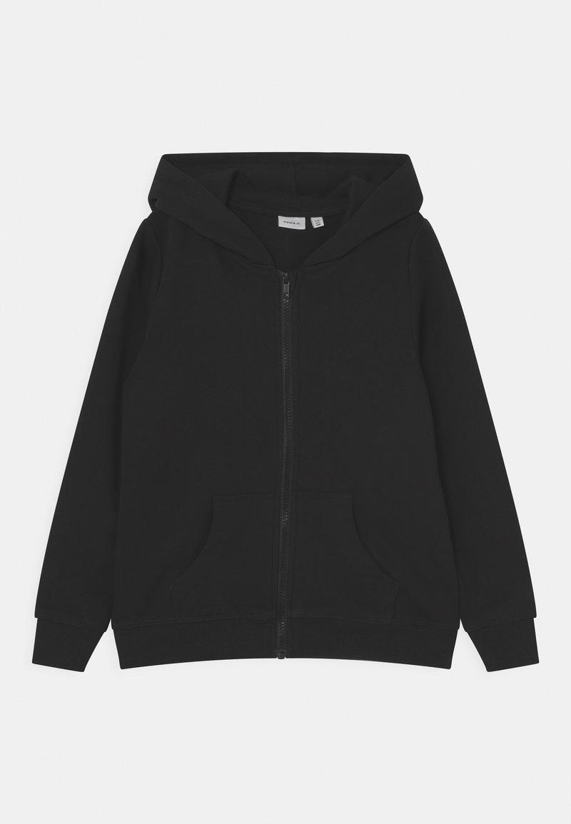 Name it - NKFNASWEAT HOOD - Sweater met rits - black