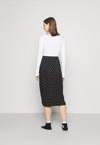 Even&Odd - 2 PACK - Long sleeved top - black/white - 2