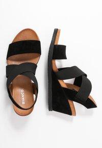 Bianco - BIACAILY CROSS  - Wedge sandals - black - 3