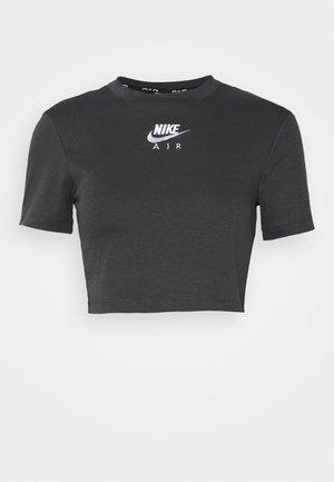 AIR CROP TOP - Camiseta estampada - grey