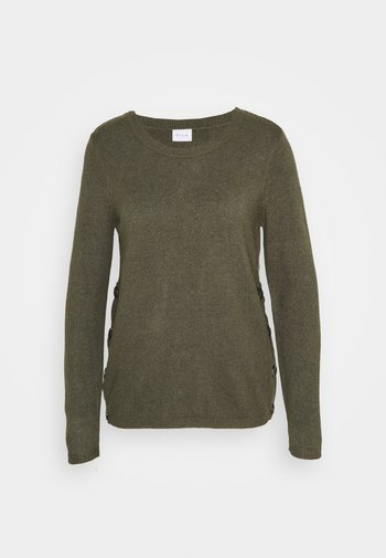 VIRIL BUTTONED ONECK - Jumper - forest night