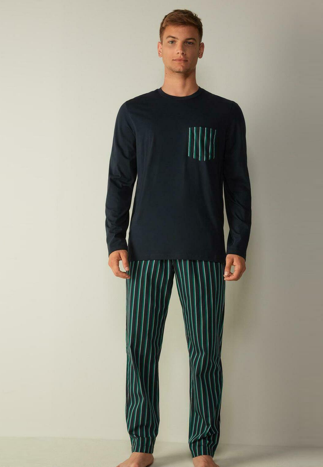 Herren MIT GRÜNEM STREIFENMUSTER - Pyjama