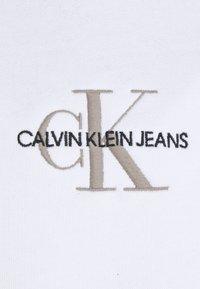 Calvin Klein Jeans - NEW ICONIC ESSENTIAL HOODIE - Collegepaita - bright white - 2