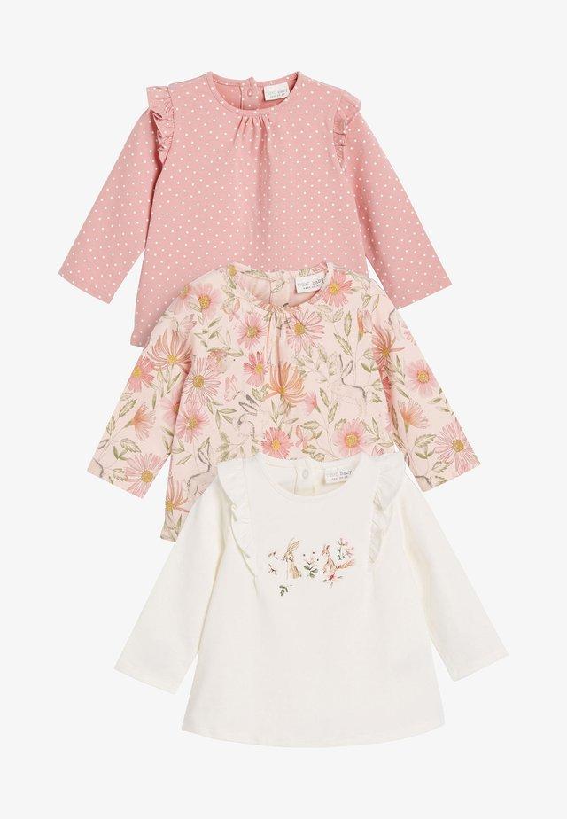 3 PACK - Maglietta a manica lunga - pink