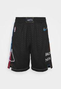 Nike Performance - NBA BROOKLYN NETS CITY EDITION SWINGMAN SHORT - Sports shorts - black/royal blue - 0