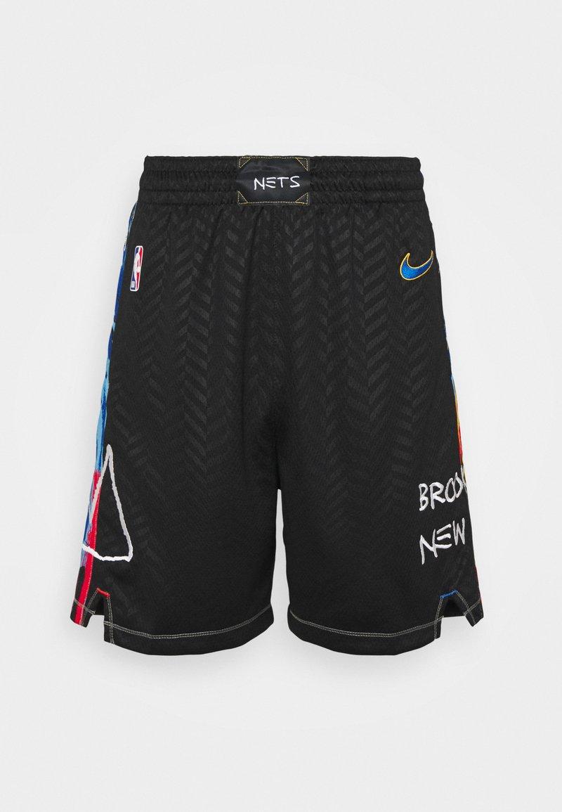 Nike Performance - NBA BROOKLYN NETS CITY EDITION SWINGMAN SHORT - Sports shorts - black/royal blue