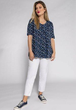 ULLA POPKEN  - Print T-shirt - bleu marine