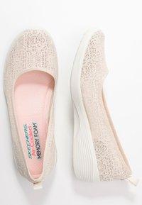 Skechers - ARYA - Ballet pumps - natural/offwhite - 3