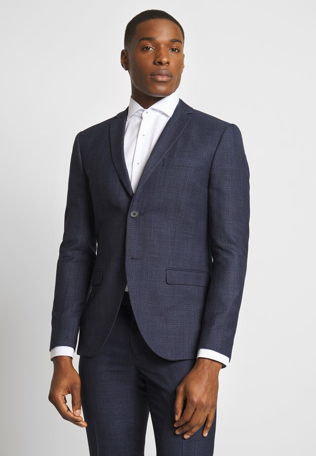 CHECK SUIT - Kostuum - dark blue