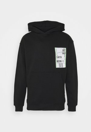 HOODY UNISEX LABEL - Bluza z kapturem - black