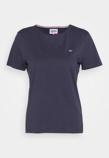 SLIM CNECK - Basic T-shirt - blue