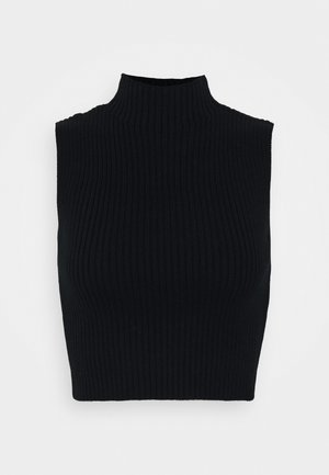 CARE CROP TOP - Linne - black