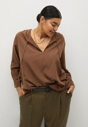 FLIESSENDE  - Long sleeved top - braun
