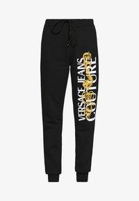 Versace Jeans Couture - Pantaloni sportivi - black/gold - 4