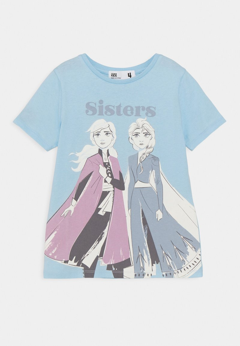 Cotton On - DISNEY FROZEN ELSA & ANNA SHORT SLEEVE TEE - T-shirt con stampa - sky haze