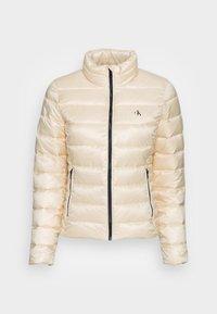 BACK LOGO ELASTIC MOTO JACKET - Winter jacket - muslin