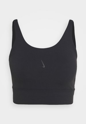 THE YOGA LUXE CROP TANK - Linne - black/dark smoke grey
