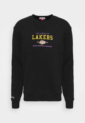 NBA LOS ANGELES LAKERS ARCHIVED EMBROIDERED CREW - Club wear - black/ black