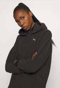 Puma - STUDIO JACKET - Fleece jacket - black - 3