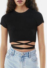 Bershka - T-Shirt print - black - 3
