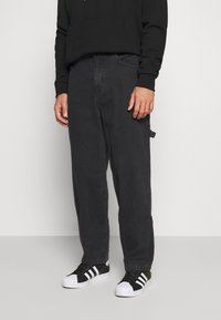 Karl Kani - PANTS - Jeans Straight Leg - washed black - 0