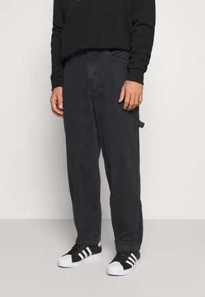 PANTS - Jean droit - washed black
