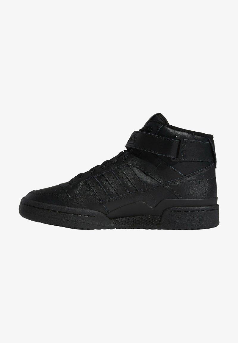 adidas Originals - FORUM MID UNISEX - Sneakers alte - core black/core black/core black