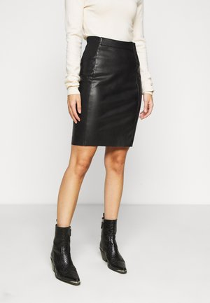 VMBUTTERSIA COATED SKIRT - Kynähame - black