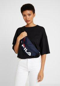 Fila - WAIST BAG SLIM - Bum bag - black iris - 5