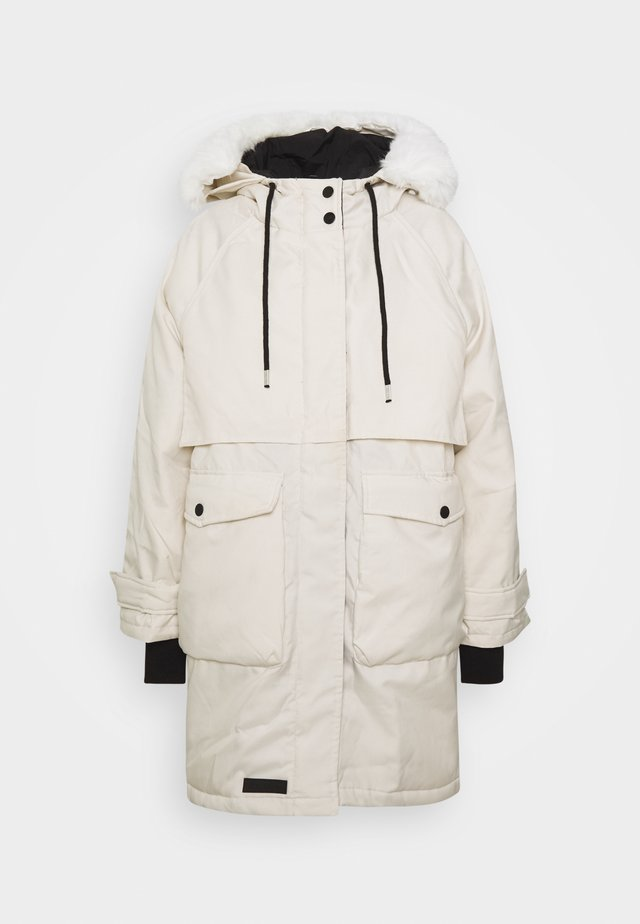 OVERSIZED WATERREPELLENT PARKA - Zimní kabát - beige