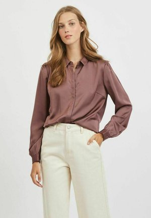 Button-down blouse - rose taupe
