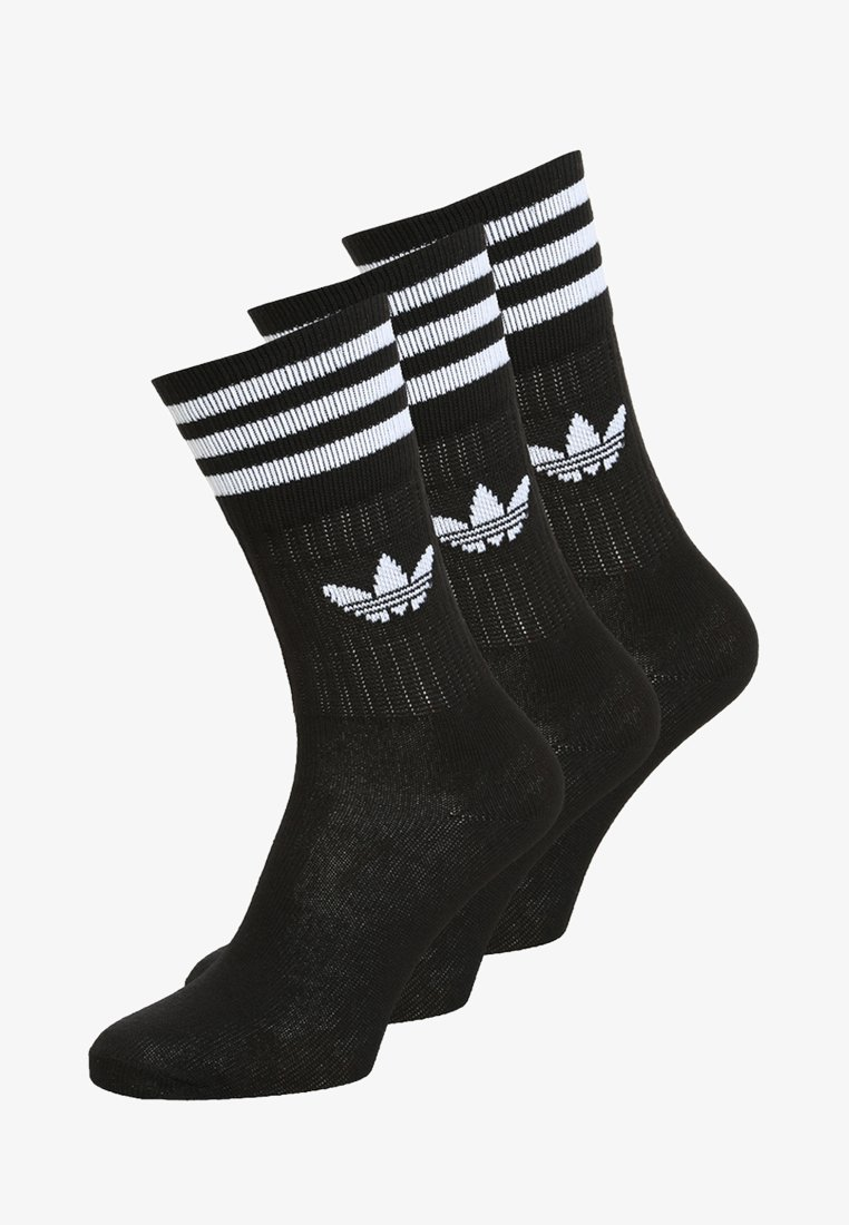 adidas Originals - SOLID CREW UNISEX 3 PACK - Socks - black/white
