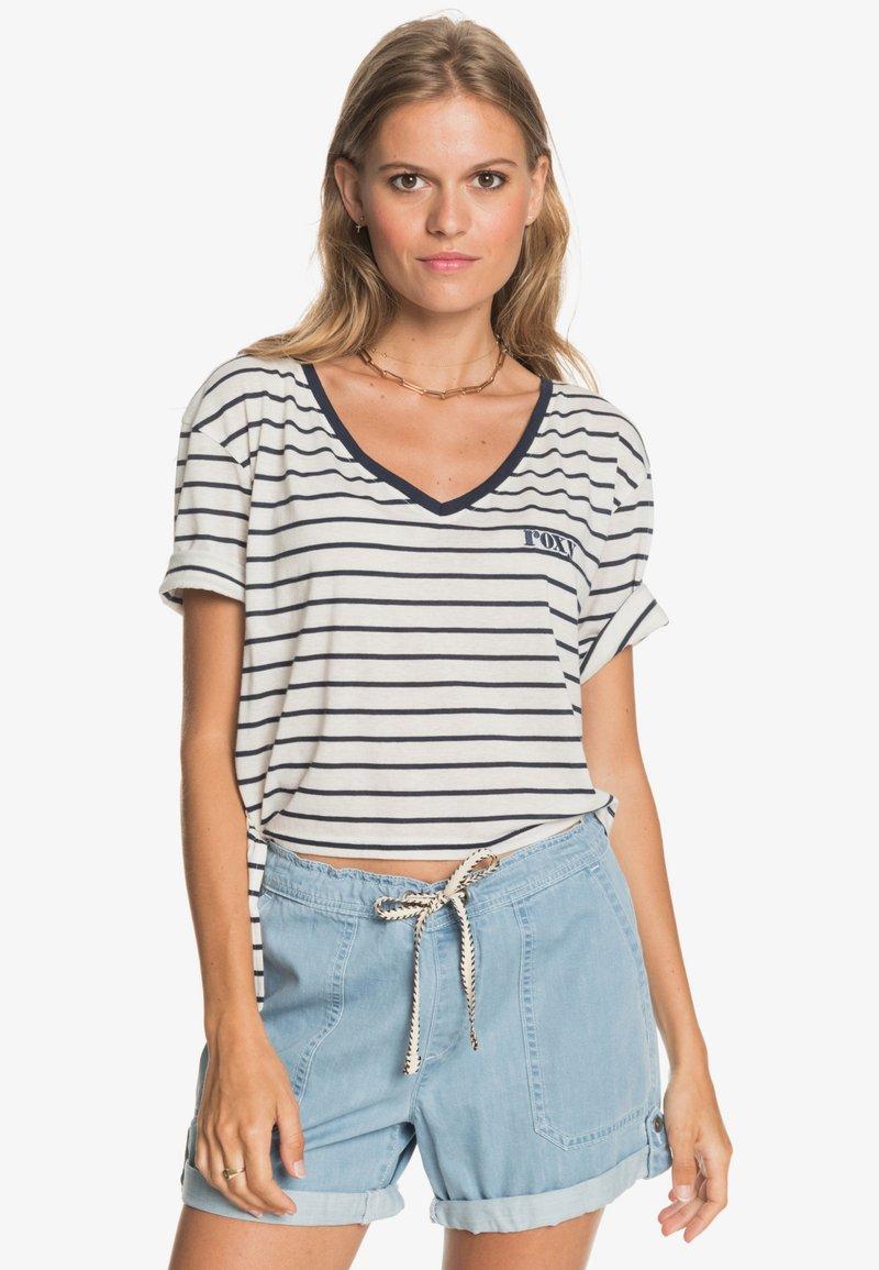 Roxy - Print T-shirt - snow white kuta stripes