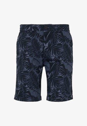 Shorts - navy tropical leaves print