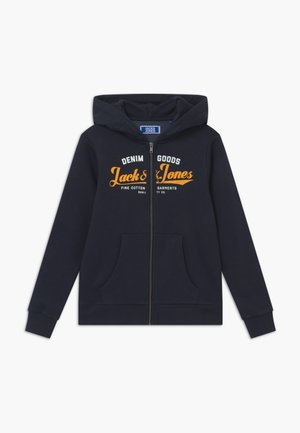 JJELOGO ZIP HOOD - Zip-up hoodie - navy blazer