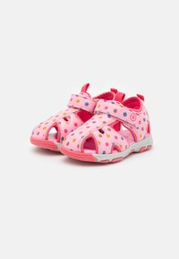Color Kids - BABY VELDRO STRAP - Walking sandals - cotton candy - 1