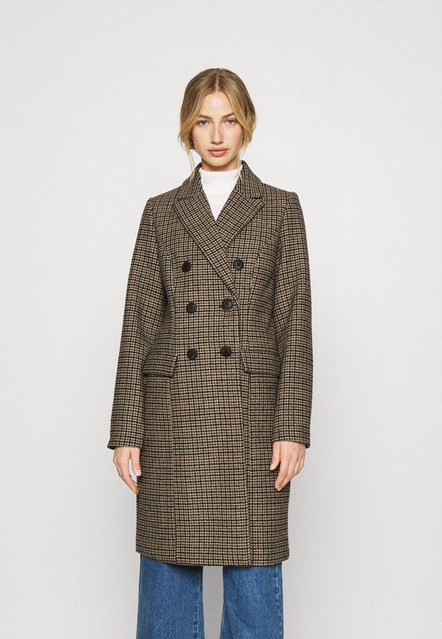 VMHAFIA CHECK JACKET - Classic coat - tan/houndstooth
