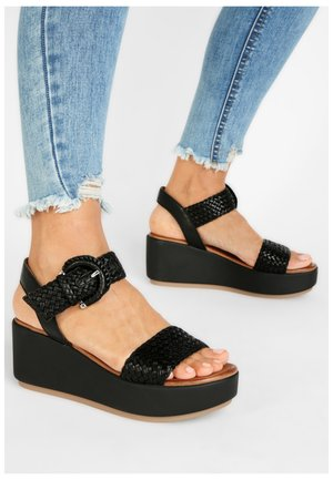 Wedge sandals - black blk