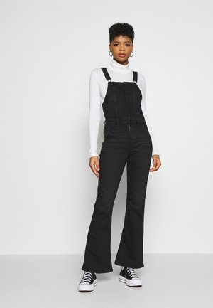 FLARE OVERALL - Dungarees - black wash